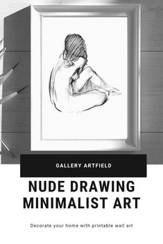 Nude Drawing. Original Nude Figure Art. Minimal Line Art. Abstract Nude Prints. Nude Woman Art Print. Line Drawing. Minimalist Art These digital prints are GORGEOUS and very high quality! They are beautiful, very feminine and light. Simple and stunning. You will able to print and frame it the same day. Sexy and beautiful for your master bedroom.They will the finishing touch to a master bedroom remodel or in living room's gallery wall. And perfect for your guest bathroom! Contour Line Art, Woman Art, Scandinavian Interior, Minimalist Art, Line Drawing, Figurative Art, Printing Services, Printable Wall Art, Female Art