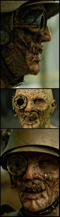 Love the metal plating // Demon German Gunner-Sucker Punch Steampunkish Prosthetic makeup SFX prosthetics and accessories