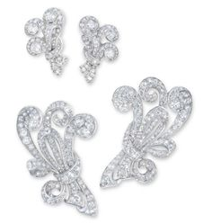 Lot 1708 -  A SET OF DIAMOND JEWELLERY, BY CHAUMET