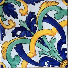 Nuove Piastrelle 20x20 Linea 2016 - Maioliche Vietresi Ceramica Metelliana Cotto Ceramica Artistica Ideas, Art Populaire, Italian Pottery, My Art Studio, Blue Pottery, Mandala Drawing, Tile Art, Tile Painting, Tile Patterns