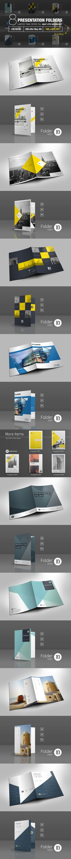 Bundle: 8 Presentation Folders