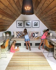 Bonus Room in the Attic - Fixer Upper Style Attic Playroom, Attic Loft, Attic Office, Loft Room, Attic Renovation, Attic Remodel, Garage Loft, Attic Bedrooms, Finished Attic