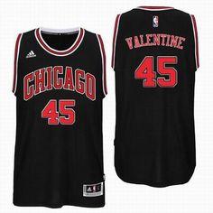 63773f506f8 2016 Draft Pick Chicago Bulls  45 Denzel Valentine Black Road Swingman  Jersey Basquete