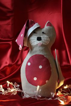 Christmas Cat Door Stop