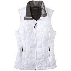 C9 by Champion Women's Puffer Vest -Teal ($26) ❤ liked on Polyvore featuring outerwear, vests, white, pocket vest, white puffy vest, sleeveless vest, white sleeveless vest and puffer vest
