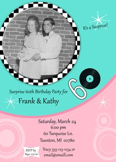 60th Birthday Party Invitation by KR Creations on Etsy, $12.50