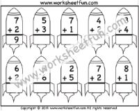 Addition – Single Digit – 1 Worksheet