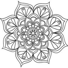 Flowers Pattern Drawing Floral Design Coloring Pages 19 Ideas Pattern Coloring Pages, Mandala Coloring Pages, Coloring Book Pages, Mandala Tattoo Design, Mandala Drawing, Mandala Dots, Mandala Pattern, Flower Pattern Drawing, Drawing Flowers