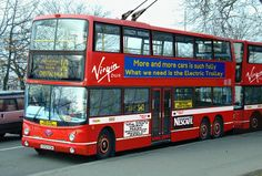Virgin's TT Class trolleybus London Transport, Public Transport, The Rocks Sydney, Custom Trikes, Subway Map, Double Decker Bus, Road Rage, Bus Coach, Red Bus
