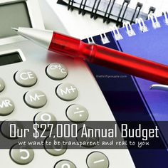 Our Budget - The Breakdown of the $27K Annual Budget