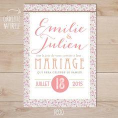 faire part mariage rétro liberty Eloise | Sweet Paper