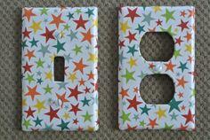 Tapa de la placa de interruptor estrellas por Katidids1019 en Etsy