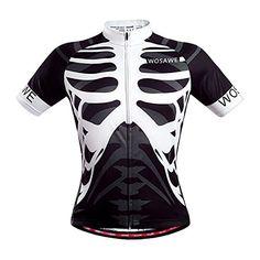WOSAWE Men Skeleton Bone Cycling Jersey Mountain Road Bike Bicycle Sportswear Ciclismo Short Sleeve Cycle Wear Clothing - Mountain Bikes For Sale Cycling Jerseys, Cycling Bikes, Bicycle Jerseys, Road Bike Women, Cycling Outfit, Cycling Wear, Sports Shirts, Look Fashion, Cheap Fashion