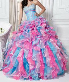cotton candy dress :)