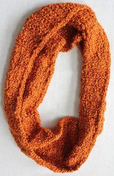 Pumpkin Infinity Scarf by jubilee127 on Etsy, $20.00