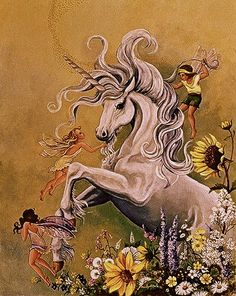 I've always loved Unicorns as a little girl! I love this art piece it is just so beautiful