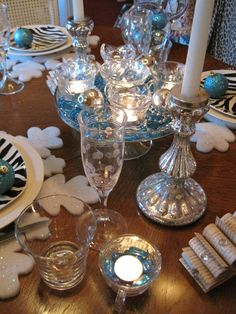 New Year's tablescape. Love the zebra print!