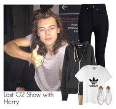 """""""Last O2 show with harry"""" by puppyjo ❤ liked on Polyvore featuring Rodarte, adidas, Converse, Kate Spade, harrystyles, O2, backstage and otrat"""