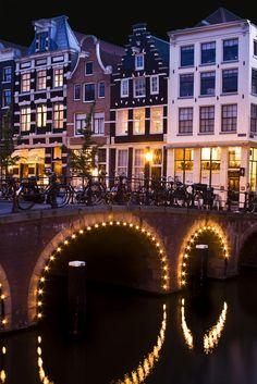 The Netherlands, Amsterdam by night