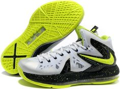 7dc4655d27b9 Nike LeBron 10 PS Elite Cool Grey Volt Black Shoes In best sale. The  fashion design lebron 10 ps elite shoes in cheap price.