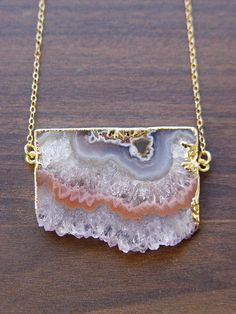 Pastel Stalactite Gold Necklace OOAK by friedasophie on Etsy