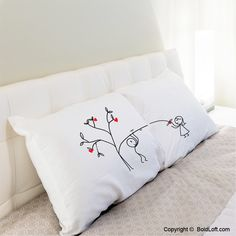 """If you are looking for something a bit on the sassy side, these adorable pillowcases are as playful as your sweetie is. Cute Christmas gifts for boyfriend or husband. BoldLoft """"Love Grows for You"""" His & Hers Matching Couple Pillowcases. #hisandhers #christmasgiftsforhim"""