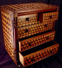 Miniature Chest of Drawers c. 1850