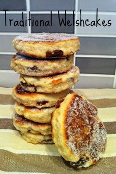 Recipe for traditional Welshcakes scant 1 cup self raising flour pinch salt slightly less than 1/2 cup chilled & diced butter 1/3 cup castor sugar scant 1/4 cup raisins 1 egg yolk 3 TBSP milk