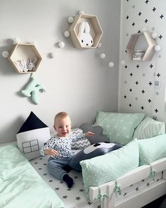 stylish & chic kids room decorating ideas for girls & boys 18 < Home Design Ideas Toddler Rooms, Baby Boy Rooms, Baby Bedroom, Baby Room Decor, Baby Boy Nurseries, Nursery Room, Kids Bedroom, Nursery Decor, Baby Room Design
