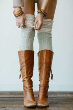 knee socks from three bird nest - $38.00