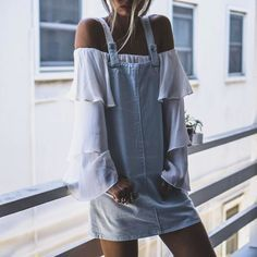 Forever 21 Crystal Dye Overall Dress Quirky Fashion, Korean Fashion, Boho Fashion, Fashion Beauty, Fashion Outfits, Womens Fashion, Fashion Design, Fashion Clothes, Fashion Ideas