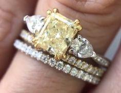 Yellow Diamond Rings, Girls Best Friend, Diamonds, Gems, Engagement Rings, Pearls, Crystals, Jewelry, Enagement Rings