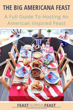 My Big Americana Feast guide includes recipes, drink and decoration ideas plus a free preparation plan to help you host a no-stress Americana feast. Boston Baked Beans, Garlic Rolls, Southern Chicken, Serrano Ham, Find Recipe, Recipe Links, Creamy Coleslaw, Dessert Buffet, How To Make Cheese