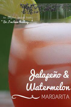 jalapeño watermelon margarita...perfect for Cinco de Mayo!