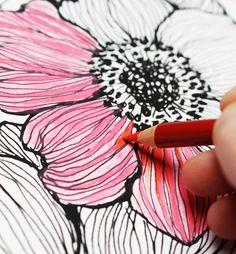 alisaburke: lápices de colores: una serie de consejos y trucos