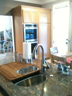 Kitchen with @Frank Edell Luxury  sink and lots of accessories….customizing is a trend.