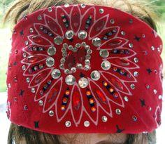 RED BLING BANDANA Womens Cotton Rhinestone Crystals by silcoon52, $22.95 Motorcycle Bandanas, Biker Bandanas, Bandana Ideas, Bandana Styles, Riding Clothes, Riding Gear, Doo Rags, Christmas Presents To Make, Bandana Headbands