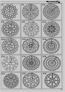 2146 patterns to crochet! - Make all these circles in thin white thread, then hang them up like snowflakes for Christmas Beautiful and more crochet pattern ~ make handmade - handmade - handicraft holy crap, tons of motif patterns crochet autumn spice mand Mandala Au Crochet, Crochet Motifs, Crochet Diagram, Crochet Chart, Crochet Squares, Love Crochet, Diy Crochet, Crochet Doilies, Crochet Flowers