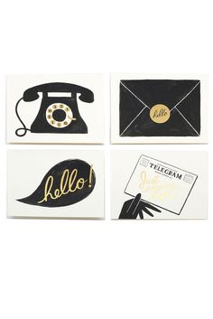 Don't wave goodbye to the days of a personal, handwritten note! Send one of these vintage-inspired hellos instead.