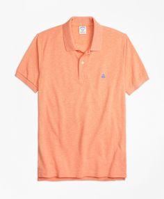 Slim Fit Supima® Cotton Performance Polo ShirtCoral