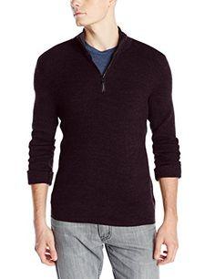 Calvin Klein Men's Quarter-Zip Ribbed Sweater