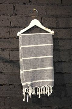 Carousel Max Panel Turkish Towels in Black