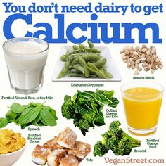 Calcium can be found in a wide array of non-dairy items.