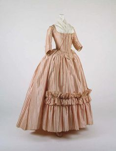I LOVE the ruffle trim on the bottom and pretty color! 1780's