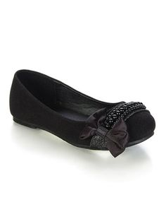 Take a look at this Black Espo Ballet Flat by Jelly Beans on #zulily today!