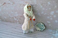 Купить Ватная елочная игрушка в интернет магазине на Ярмарке Мастеров