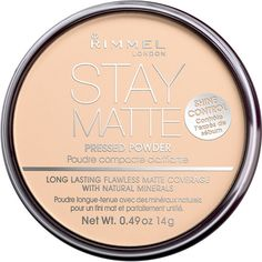 Rimmel, Stay Matte powder. Sets your foundation so that it doesn't fade or come off and the biggest bonus is that it's so cheap!