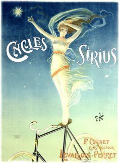 Vintage Bicycle Posters, Cycles Sirius