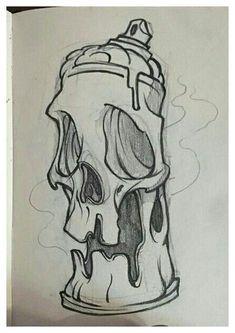 Dark Art Drawings, Pencil Art Drawings, Art Drawings Sketches, Cool Drawings, Graffiti Art Drawings, Graffiti Pictures, Graffiti Doodles, Illustration Art Drawing, Drawing Art