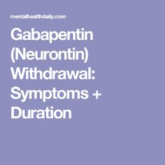 does soma have withdrawal effects of gabapentin and blood